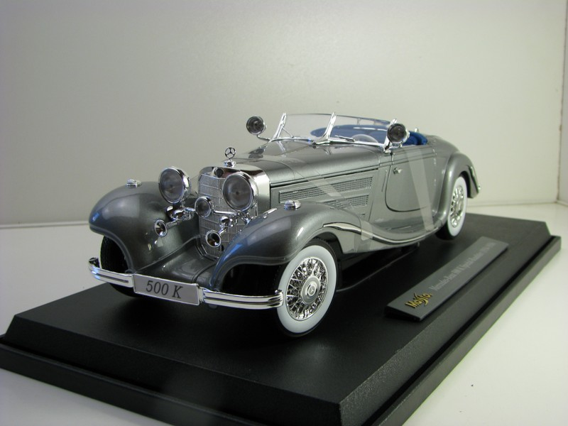 Mercedes-Benz 500 K Special Roadster 1934 Grey 1:18 Maisto